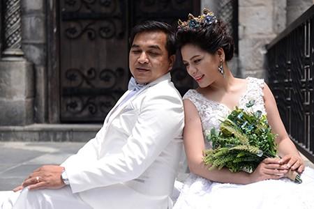 Romantisches Ba Na während der Hochzeitssaison - ảnh 5