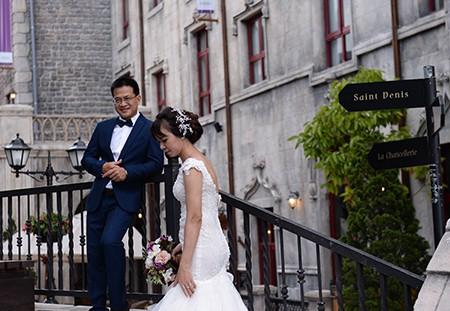 Romantisches Ba Na während der Hochzeitssaison - ảnh 6