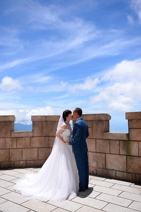 Romantisches Ba Na während der Hochzeitssaison - ảnh 8