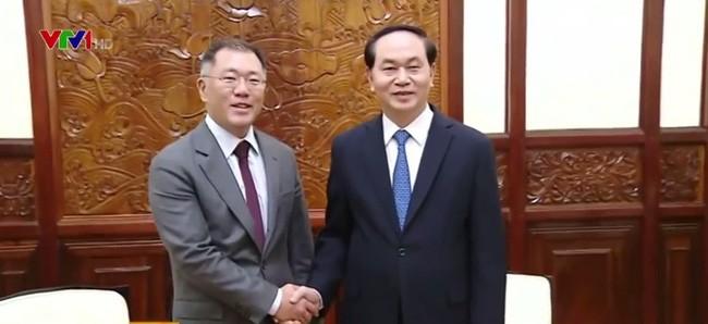 Staatspräsident trifft Vizevorsitzenden des südkoreanischen Konzerns Hyundai - ảnh 1