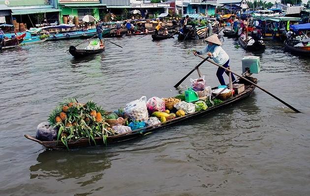 Der schwimmende Markt Nga Nam in der Provinz Soc Trang - ảnh 2