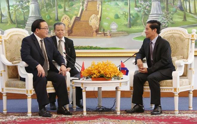 Feier zu 50 Jahren der Beziehungen zwischen Vietnam und Kambodscha - ảnh 1