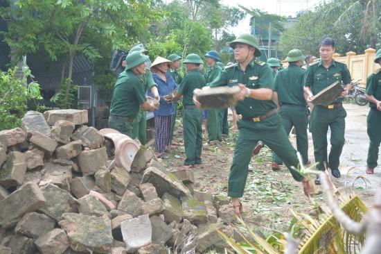 Beseitigung von Folgen des Taifuns Doksuri - ảnh 1