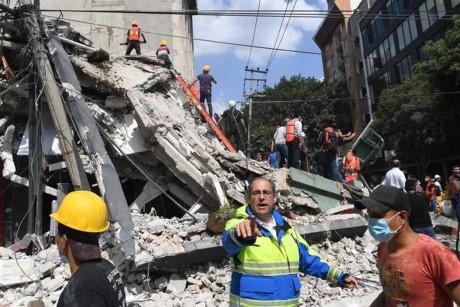 Länder sprechen Erdbebenopfern in Mexiko ihr Beileid aus  - ảnh 1