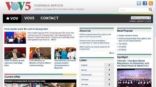 VOV Overseas Service's website launched - ảnh 1