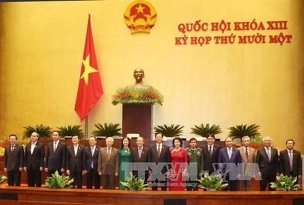 越南国会批准免去国家选举委员会和国防与安全委员会成员的职务 - ảnh 1