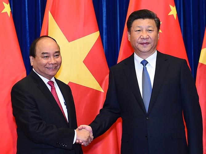 越南政府总理阮春福访华全程图片集锦 - ảnh 11