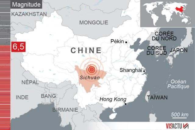 Chine-Séisme de magnitude 6,5: les autorités craignent jusqu'à 100 morts - ảnh 1