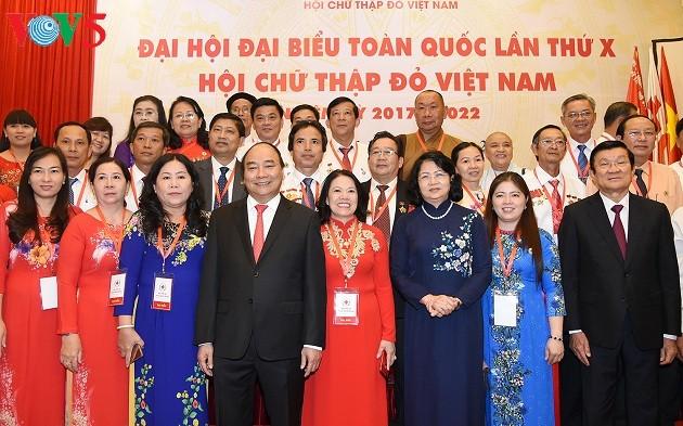 Le Premier ministre au 10è Congrès national de la Croix rouge vietnamienne - ảnh 1