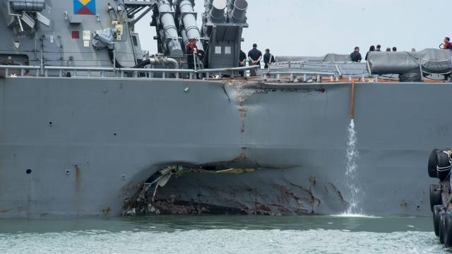 Des restes humains retrouvés dans le navire de guerre américain accidenté - ảnh 1
