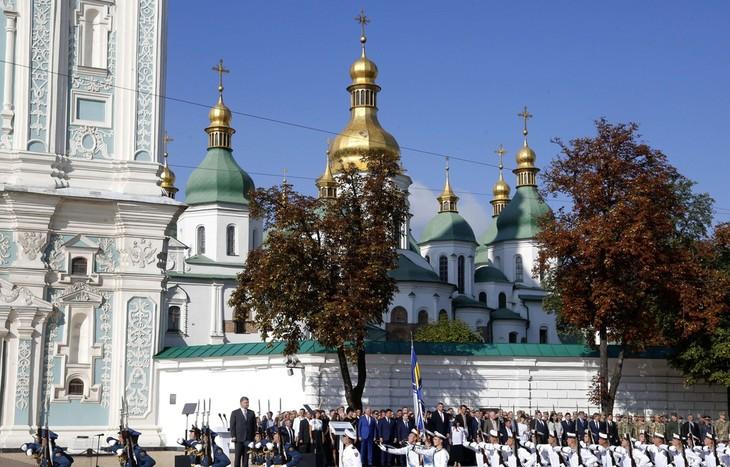 Ukraine: Deux blessés dans une explosion en plein centre de Kiev - ảnh 1