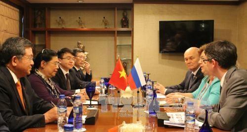 AIPA 38 : Tong Thi Phong rencontre la vice-présidente de la Douma russe - ảnh 1