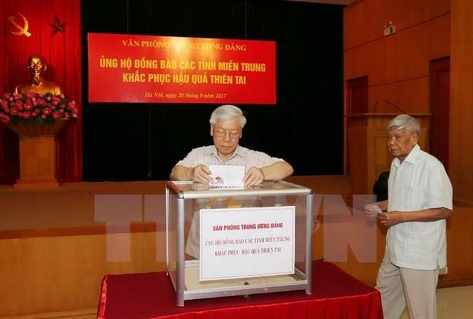Typhon Doksuri : des aides accordées aux sinistrés du Centre - ảnh 1