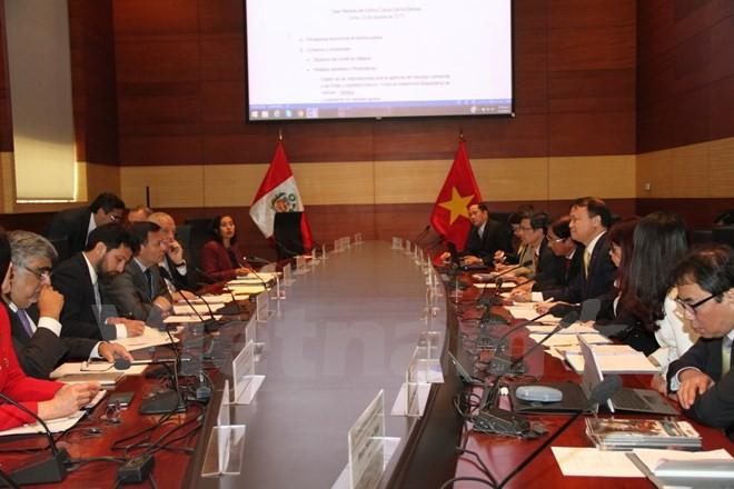 Première réunion du Comité intergouvernemental Pérou-Vietnam - ảnh 1