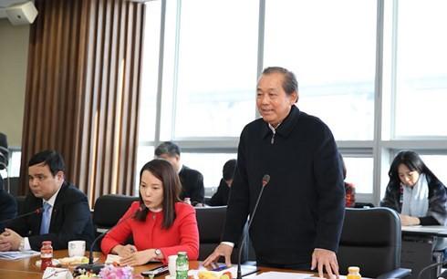 Le vice-Premier ministre Truong Hoa Binh en visite en République de Corée - ảnh 1