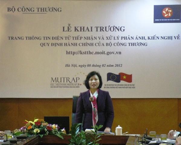 Das Handelsministerium veröffentlicht Internetseite über Verwaltungsregeln  - ảnh 1
