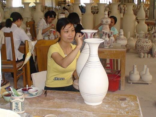 Die Wiederauferstehung des Keramikdorfs Chu Dau  - ảnh 1