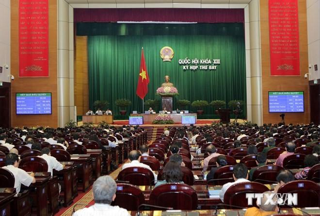 Gesetzesentwürfe zur Organisation des Staatsapparats verabschiedet - ảnh 1