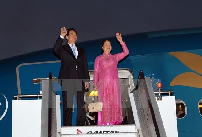 Nguyen Tan Dung auf dem Weg nach Kasachstan - ảnh 1