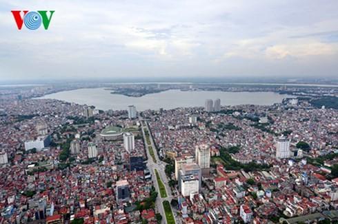 Die Hauptstadt Hanoi von oben  - ảnh 1