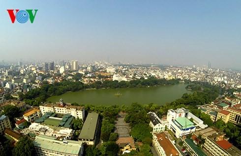 Die Hauptstadt Hanoi von oben  - ảnh 12