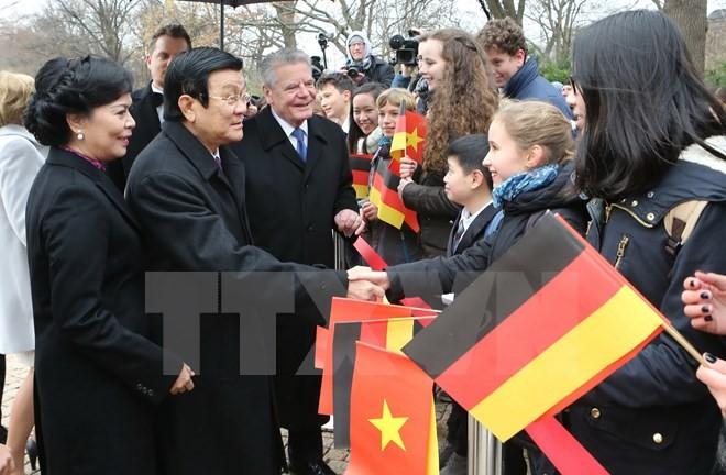 Truong Tan Sang und Joachim Gauck treffen Journalisten - ảnh 1