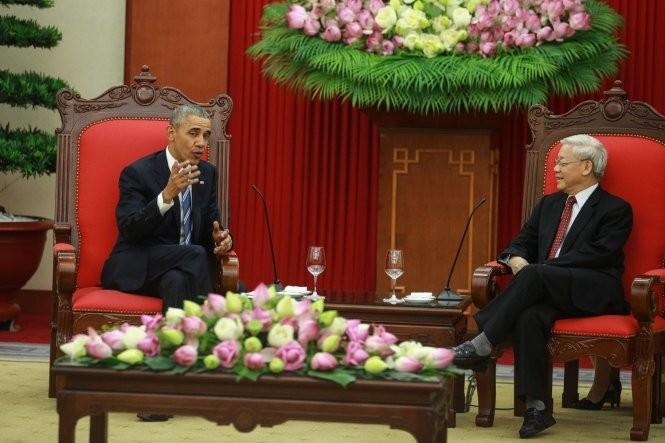 KPV-Generalsekretär Nguyen Phu Trong trifft US-Präsident Barack Obama - ảnh 1