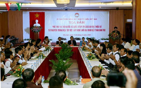 Ethnische Minderheiten im Hochland Tay Nguyen tragen zur Entwicklung des Landes bei  - ảnh 1