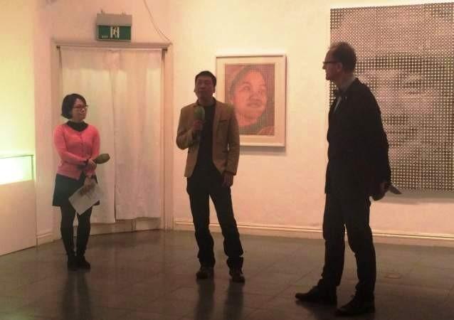 """Ausstellung """"Shape of Round"""" und Hochdrucktechnik von Pham Khac Quang - ảnh 1"""
