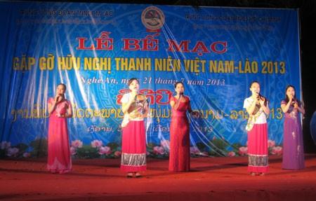 Pertemuan persahabatan pemuda Vietnam-Laos 2013 berakhir - ảnh 1