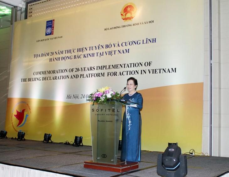 Memperingati ultah ke-20 pelaksanaan Pernyataan dan Program Aksi Beijing - ảnh 1