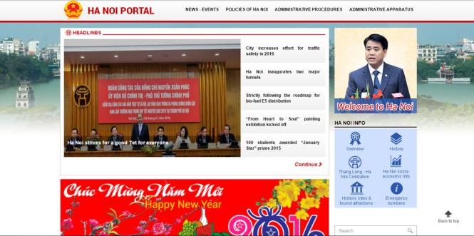 Portal komunikasi kota Hanoi mempunyai antarmuka bahasa Inggris - ảnh 1