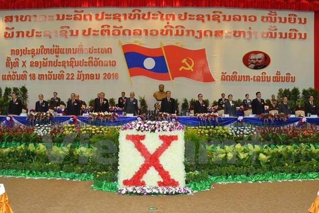 Acara pembukaan Kongres Nasional ke-10 Partai Rakyat Revolusioner Laos - ảnh 1