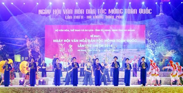 Festival nasional ke-2 Budaya etnis minoritas Mong tahun 2016 - ảnh 1