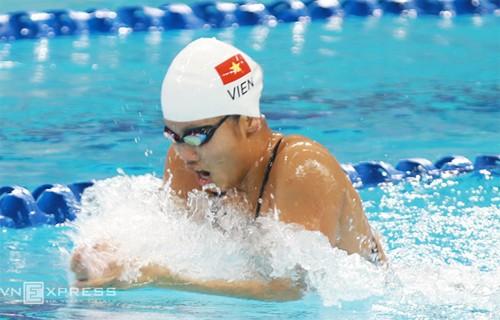 Atlet renang Anh Vien meraih lagi dua medali perunggu di kejuaraan renang Asia - ảnh 1