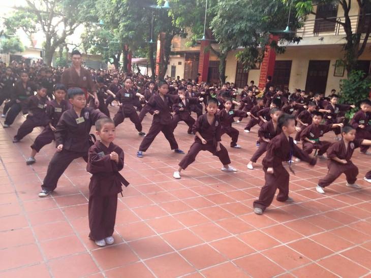 Mengunjungi satu kursus main silat di pagoda Bang A, kota Hanoi - ảnh 4