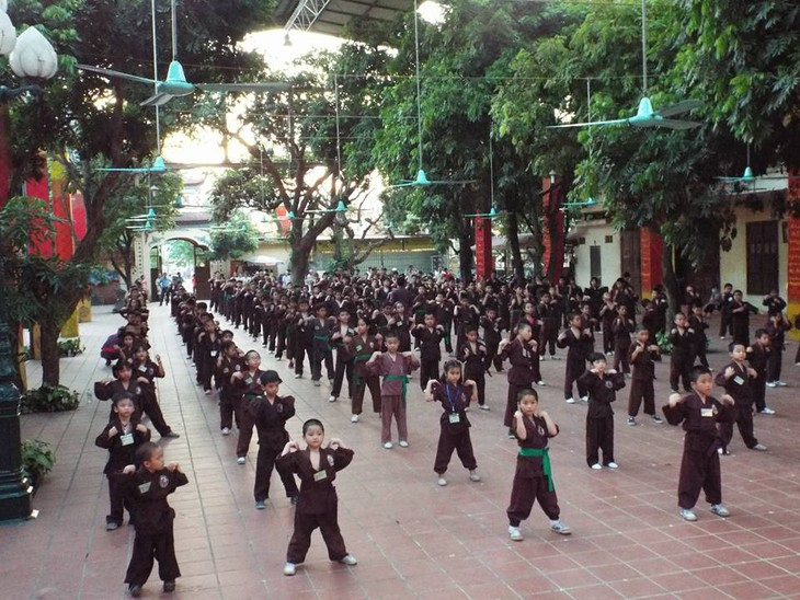 Mengunjungi satu kursus main silat di pagoda Bang A, kota Hanoi - ảnh 3