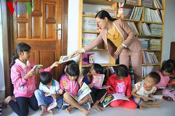 Perpustakaan kasih sayang bagi anak-anak miskin - ảnh 1