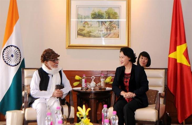 Ketua MN Vietnam, Nguyen Thi Kim Ngan menerima Ketua Komite Solidaritas India-Vietnam bagian negara Belgan Barat - ảnh 1