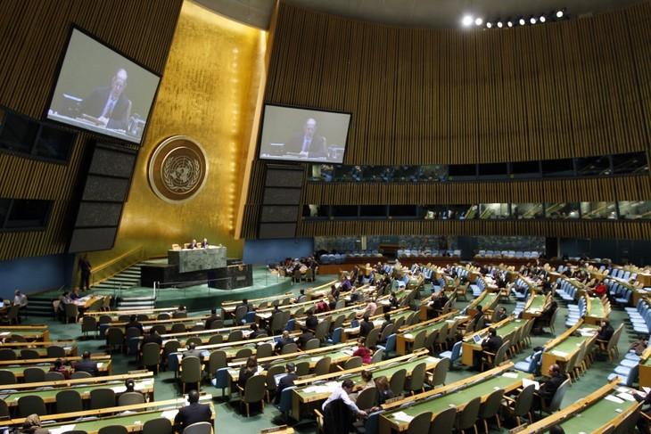 Majelis Umum PBB mengesahkan Resolusi untuk membentuk badan antiterorisme baru - ảnh 1