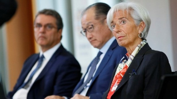 Pemimpin IMF, WB dan WTO mengimbau upaya memulihkan perdagangan - ảnh 1
