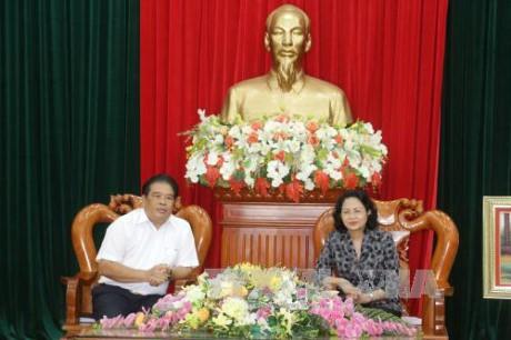 Wapres Vietnam, Dang Thi Ngoc Thinh melakukan temu kerja dengan Badan Harian Pengarahan Daerah Nam Bo Barat - ảnh 1