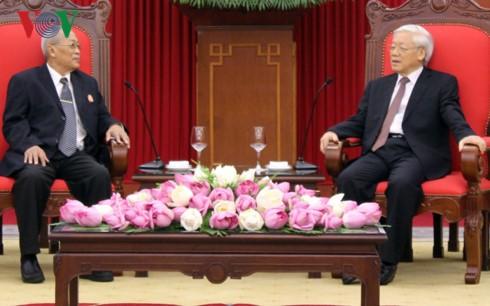 Sekjen KS PKV, Nguyen Phu Trong menerima delegasi Komite Pemeriksaan Komite Sentral Partai Rakyat Kamboja - ảnh 1
