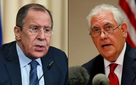 Menlu Rusia dan AS melakukan pembicaraan telepon tentang situasi Semenanjung Korea dan Suriah - ảnh 1