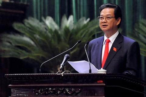 Выступление премьер-министра Нгуен Тан Зунга в парламенте - ảnh 1