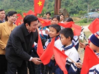 Рабочая поездка президента СРВ Чыонг Тан Шанга в провинцию Каобанг - ảnh 1