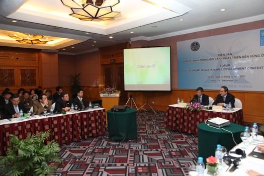 Устойчивое развитие зеленой экономики во Вьетнаме - ảnh 1
