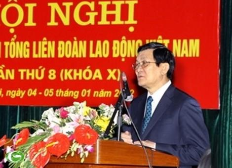 Президент СРВ принял участие в конференции Исполкома Конфедерации труда Вьетнама - ảnh 1