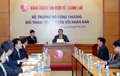 Онлайн-диалог между министром промышленности и торговли СРВ и жителями страны - ảnh 1