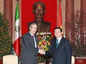 Президент СРВ принял председателя Верхней палаты мексиканского парламента - ảnh 1